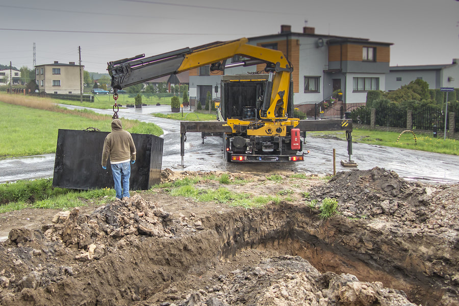 installing the septic tanks